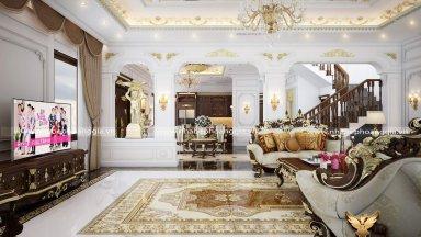 Những mẫu phòng khách đẹp có cầu thang đầy lôi cuốn