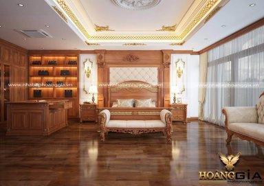 Mẫu thiết kế phòng ngủ master tân cổ điển đẳng cấp cho nhà biệt thự