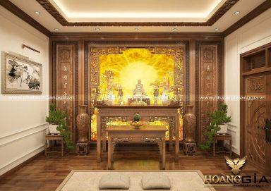 Ý tưởng thiết kế bàn thờ Phật tại gia trang nghiêm
