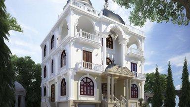 Mẫu biệt thự 5 tầng kiểu Pháp sang trọng, đầy lôi cuốn