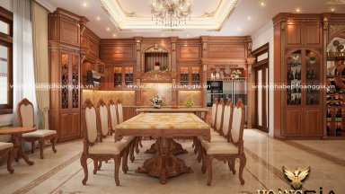 Khám phá bộ bàn ăn 8 ghế gỗ gõ đỏ sang trọng