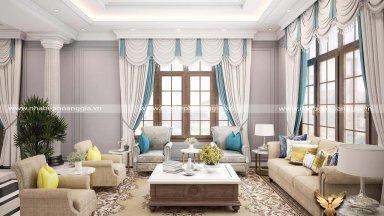 Các mẫu phòng khách tân cổ điển đẹp nhất 2020