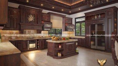 Các mẫu thiết kế tủ bếp có bàn đảo khuấy đảo thị trường nội thất hiện nay