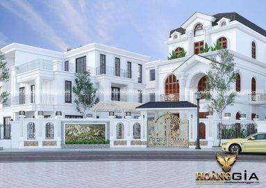 Dự án thiết kế ngoại thất biệt thự 3 tầng của chị Mẫn ở Nam Định