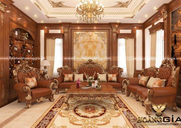 Dự án thiết và thi công nội thất tân cổ điển sang trọng cho nhà chị Tình (Móng Cái)