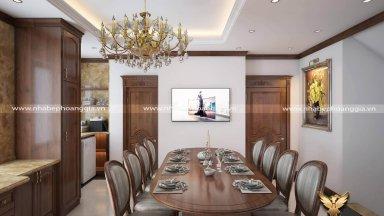 Dự án thiết kế và thi công nội thất phòng bếp nhà anh Tuấn Anh Ba Đình Hà Nội