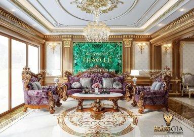 Dự án thiết kế thi công nội thất tân cổ điển nhà biệt thự nhà chị Thảo Lê