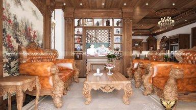 Tư vấn thiết kế kệ gỗ trang trí phòng khách đẹp đầy thu hút