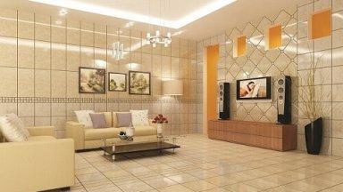 Cách chọn gạch ốp tường phòng khách đẹp, thu hút 2019