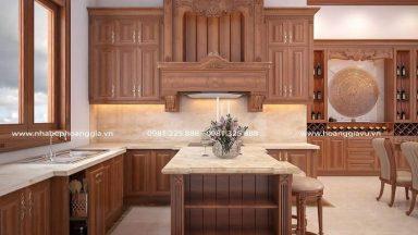 Tư vấn kích thước tủ bếp gỗ tiêu chuẩn
