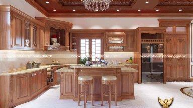 Lý do bạn nên đóng tủ bếp gõ gõ đỏ Nam Phi cho căn bếp nhà mình?