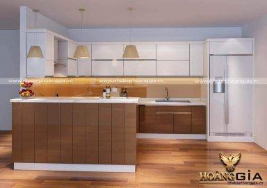 Mẫu tủ bếp Acrylic 01