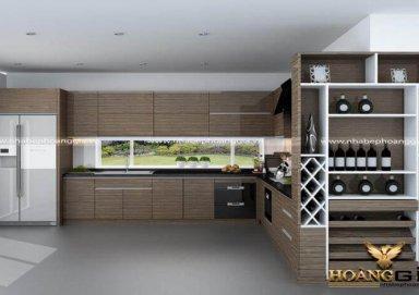 Mẫu tủ bếp Acrylic 03