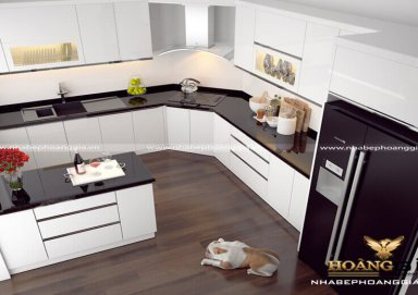 Mẫu tủ bếp Acrylic 04