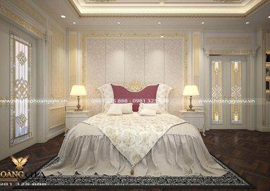 Mẫu thiết kế phòng ngủ biệt thự tân cổ điển sang trọng
