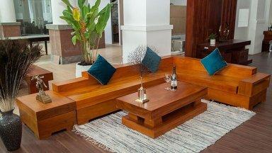 Top 07 mẫu sofa gỗ nguyên khối đẹp nhất 2021