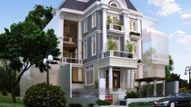Những mẫu thiết kế nhà phố tân cổ điển đẹp, ấn tượng và hiện đại