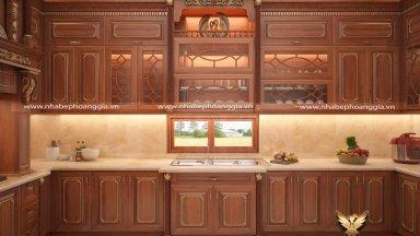 Mẫu thiết kế nội thất phòng bếp tân cổ điển cho biệt thự đẹp được ưa chuộng nhất 2019