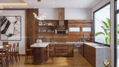 Tổng hợp 15 mẫu tủ bếp có quầy bar đẹp sang trọng tiện nghi
