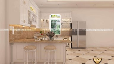 10 mẫu tủ bếp gỗ tự nhiên cho nhà nhỏ 2020