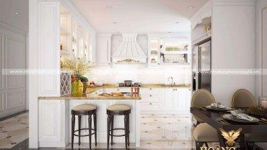 Mẫu tủ bếp kết hợp quầy bar được yêu thích nhất năm 2019