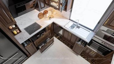 Tổng hợp 10 mẫu tủ bếp thông minh đẹp tiện nghi
