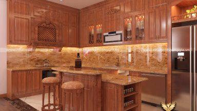 Sức hút của mẫu tủ bếp treo tường đẹp đầy tiện ích