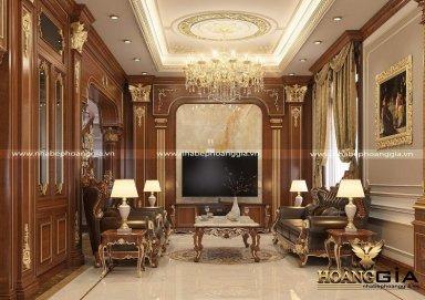 Không gian nội thất phòng khách tân cổ điển sang trọng đầy đẳng cấp
