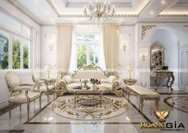 Phòng khách phong cách cổ điển Châu Âu gây đốn tim chủ nhân
