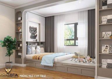 Mẫu thiết kế phòng ngủ hiện đại cho con trai anh Dũng (Hưng Yên)