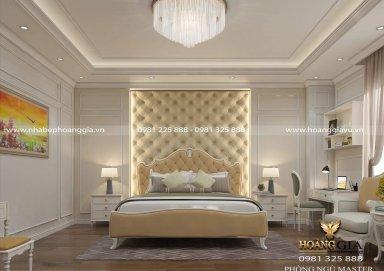 Sang trọng với phòng ngủ master tân cổ điển nhà chị Kim Chi (Bắc Giang)