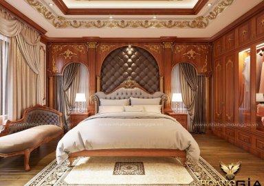 Đẳng cấp với mẫu thiết kế phòng ngủ tân cổ điển cho nhà biệt thự