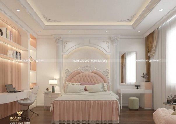 Dự án thiết kế nội thất biệt thự tân cổ điển nhà chị Huệ (Bắc Giang)