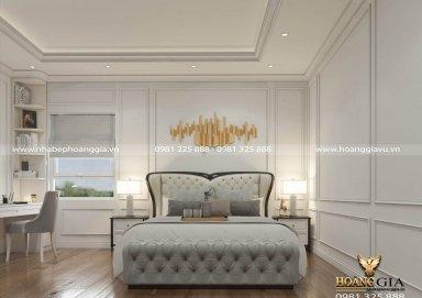 Ý tưởng thiết kế phòng ngủ tân cổ điển cho con trai chị Chi (Bắc Giang)