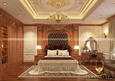 Rung động trước mẫu phòng ngủ tân cổ điển hoàng gia đẳng cấp