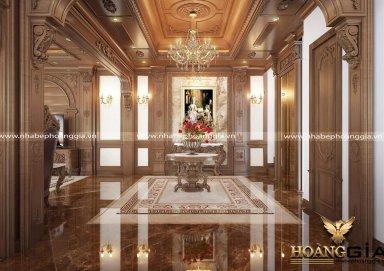 Mẫu thiết kế nội thất biệt thự tân cổ điển nhà anh Ngọc (Phú Diễn, Hà Nội)
