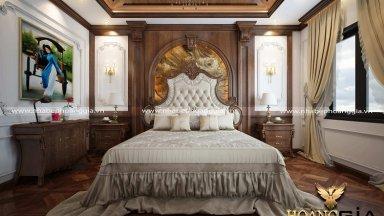Tư vấn thiết kế giường gỗ tân cổ điển đẹp, sang trọng