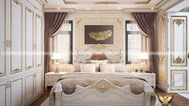 Khám phá sức hút của mẫu thiết kế giường ngủ tân cổ điển sơn trắng thanh lịch