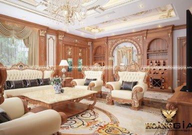 Sang trọng, đẳng cấp với mẫu thiết kế nội thất biệt thự tân cổ điển