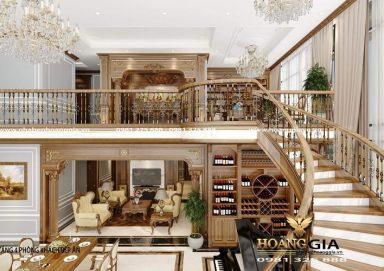Mẫu thiết kế nội thất Penthouse tân cổ điển nhà anh Dũng