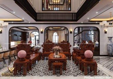 Mẫu thiết kế nội thất biệt thự Indochine nhà chị Thúy (Vinhomes Ocean Park)