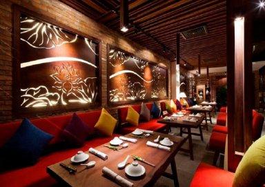Thiết kế nhà hàng ăn chay đầy yên bình và sang trọng