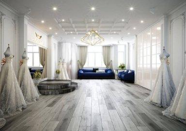 Thiết kế nội thất showroom váy cưới trang nhã