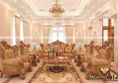 Không gian sống sang trọng phong cách thiết kế nội thất tân cổ điển nhà chú Lai ở Thái Nguyên