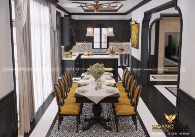Mẫu thiết kế phòng bếp phong cách Indochine truyền thống đầy thu hút