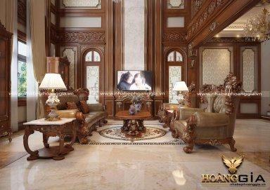 Cuốn hút trước vẻ đẹp đẳng cấp của mẫu phòng khách cổ điển Châu Âu