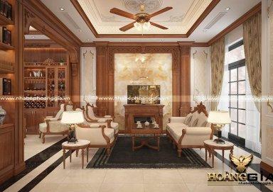 Thiết kế mẫu phòng khách tân cổ điển nhẹ nhàng đầy thanh lịch