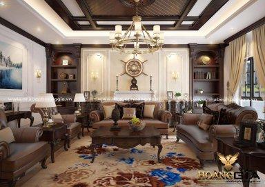 Phòng khách tân cổ điển với gam màu vượt thời gian