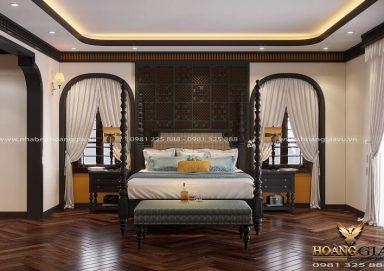 Tham khảo mẫu thiết kế phòng ngủ phong cách Indochine đầy thu hút