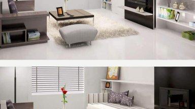 Tuyệt chiêu thiết kế phòng ngủ kết hợp phòng khách dễ dàng nhất
